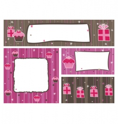 party banners and frames vector image vector image