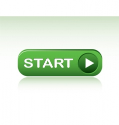 start button with reflection vector image vector image
