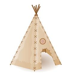 Wigwam american indians vector