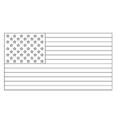 50 star united states flag 1960 vintage vector