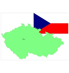 6141 czech map and flag vector image