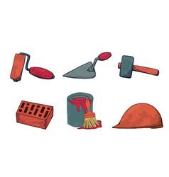 a set of construction tools vector image