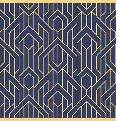 Abstract art deco geometric seamless pattern vector