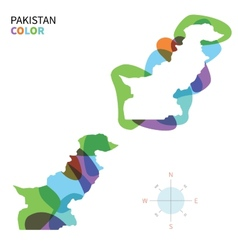 abstract color map pakistan vector image