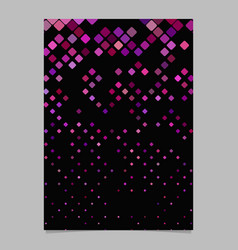 abstract square pattern poster template - mosaic vector image