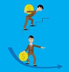 Abstraction people and money vector