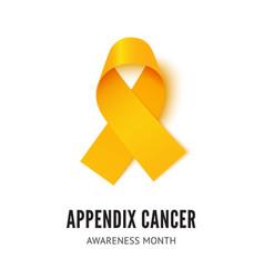 Appendix cancer awareness ribbon vector