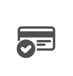 Approved credit card icon accepted payment vector
