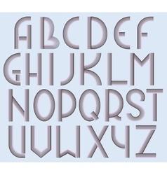 Art deco font vector