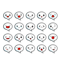 asian cute emoji vector image