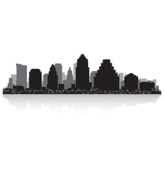 Austin USA city skyline silhouette vector image