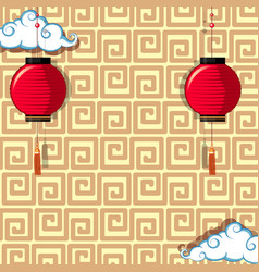 background design with red lanterns vector image