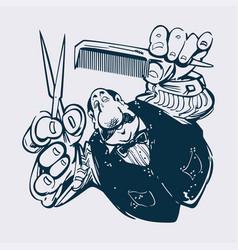 barber cartoon llustration vector image