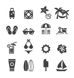 Beach icon vector