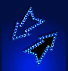 blue neon marquee vector image