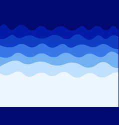 blue waves water background vector image