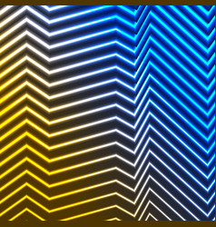 Blue yellow neon curved lines refraction vector