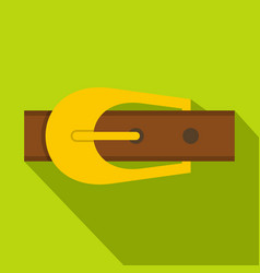 Brown belt icon flat style vector