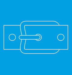 Buckle belt icon outline style vector