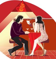 Cafe conversation vector