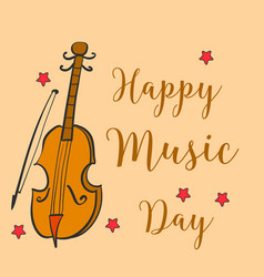 Card style music day collection vector