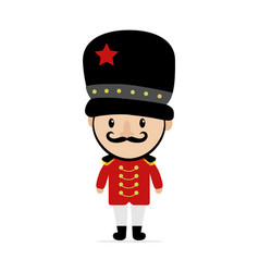 Cartoon british royal soldier of vector