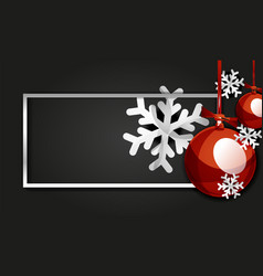 christmas and new year banner card christmas vector image