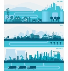 City Skyline Sets vector
