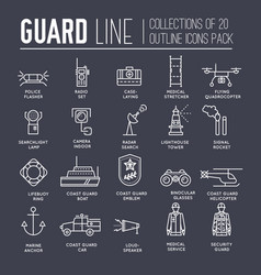coast guard day outline icon vector image