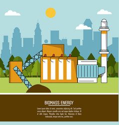 Color landscape background biomass energy plant vector