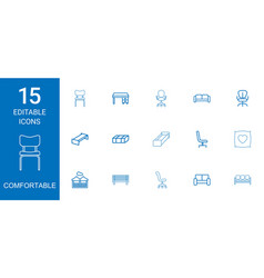 Comfortable icons vector