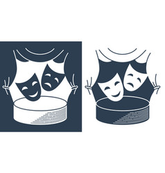 Concept theater in the form of theatrical masks vector