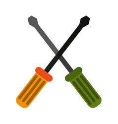 Crossed screwdrivers icon image vector