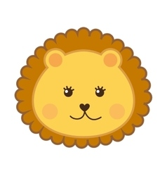 Cute lion head isolated icon design vector