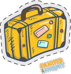 Cute travel case doodle vector