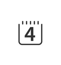 Date 4 template design vector