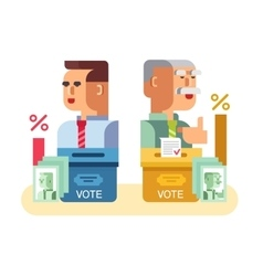 Elections candidates characters vector image