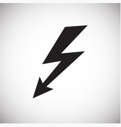 electricity sign cocept on white background vector image