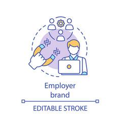 Employer brand concept icon vector