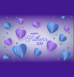 Fathers day congratulation card with trendy blue vector