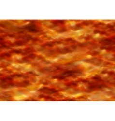 Fiery sky with orange clouds seamless vector