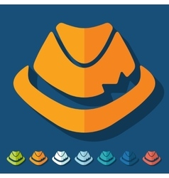 Flat design hat vector image