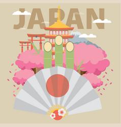 flat design of japan vector image