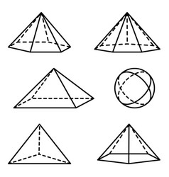 Geometric pyramidal forms vector