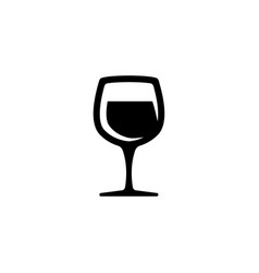 glass of wine icon - symbol or logo vector image