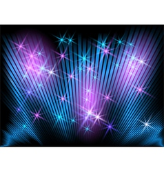 Glowing striped and stars vector image