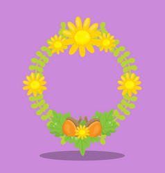 Gobble give thanks wreath 04 vector