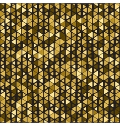 Gold triangle background vector