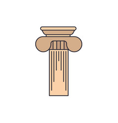 greek column icon cartoon style vector image