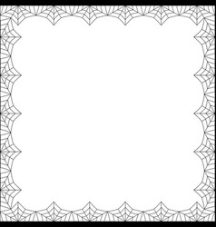 halloween square spider web border on white vector image